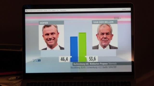 austrian independent alexander van der bellen hailed his presidential election victory sunday over his eurosceptic far right challenger as a vote for... - austrian culture stock videos & royalty-free footage