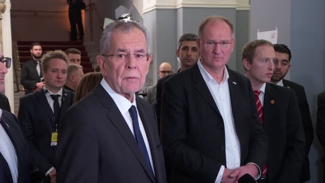 austrian independent alexander van der bellen hailed his presidential election victory sunday over his eurosceptic far right challenger as a vote for... - austrian culture stock videos and b-roll footage