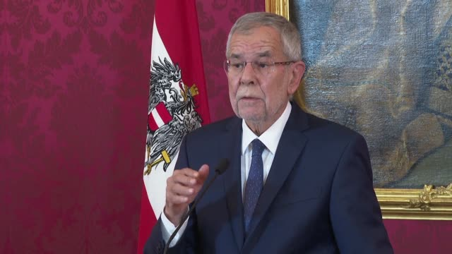 austrian president alexander van der bellen calls on political parties to restore austria's image in europe and the world in the wake of the fallout... - traditionally austrian stock videos & royalty-free footage