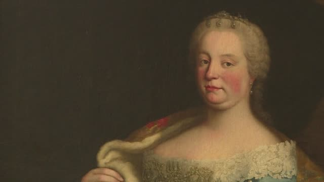 austrians celebrate the 300th anniversary of the birth of maria theresa with plenty of concerts and champagne to honour the only woman to have ruled... - empire stock videos & royalty-free footage