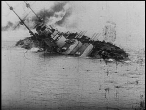 "vídeos y material grabado en eventos de stock de austro-hungarian battleship, ""szent istvan"", which capsized on the morning of june 10 with 89 casualties - víctima de accidente"