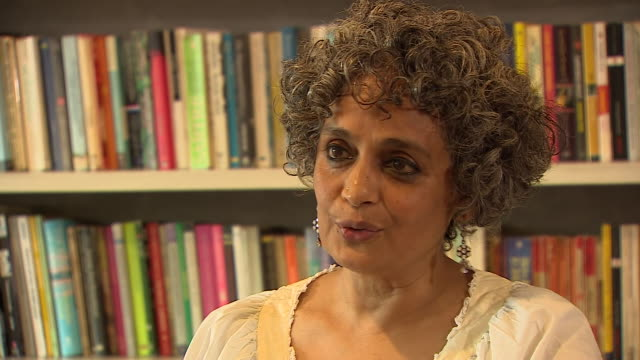 "author and activist arundhati roy saying she worries about islamophobia being ""drip-fed"" to the masses by politicians in india - author stock videos & royalty-free footage"