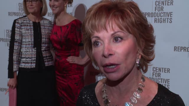 INTERVIEW Author and honoree Isabel Allende on her excitement for tonight's event why reproductive rights are important to her and why she supports...