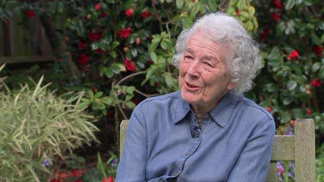 author and illustrator judith kerr interview; england: ext judith kerr interview sot - illustrator stock videos & royalty-free footage