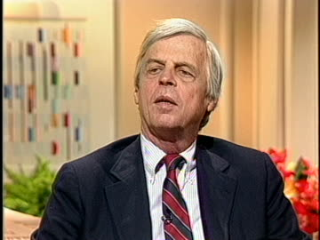 """author george plimpton discusses his new book, """"the curious case of sidd finch."""" - george plimpton stock videos & royalty-free footage"""