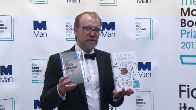 us author george saunders on tuesday became only the second american writer to win britain's renowned man booker prize which was awarded for his... - man booker prize stock videos & royalty-free footage