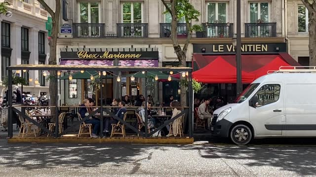 """authorities in france are appealing to residents to guard """"collective responsibility"""" as several public places reopen on wednesday, on may 19, after... - roselyne bachelot stock videos & royalty-free footage"""