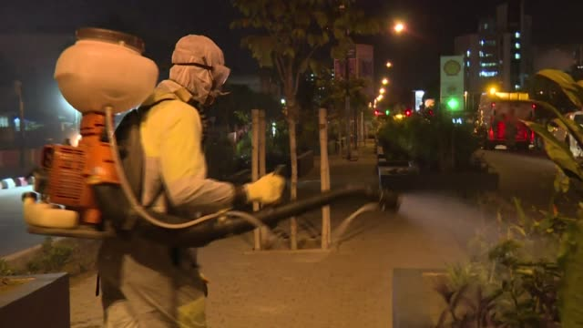authorities in ivory coast launch an operation to disinfect the capital city abidjian, after the country's first recorded death of the coronavirus - côte d'ivoire stock videos & royalty-free footage
