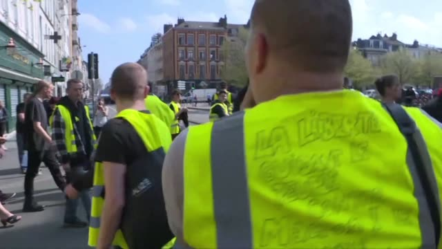 authorities in the northern french city of lille react to yellow vest protesters by banning them from certain inner city streets - lille stock videos & royalty-free footage
