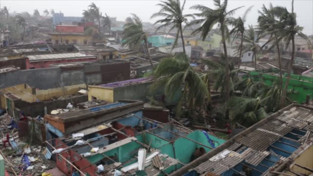 authorities launched a massive restorationandrelief effort after cyclone fani left a trail of damage in eastern india and bangladesh on saturday may... - cyclone stock videos and b-roll footage