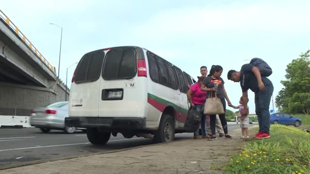 authorities on mexico's southern border with guatemala detain undocumented central american migrants hoping to reach the us amid speculation about... - detainee stock videos & royalty-free footage