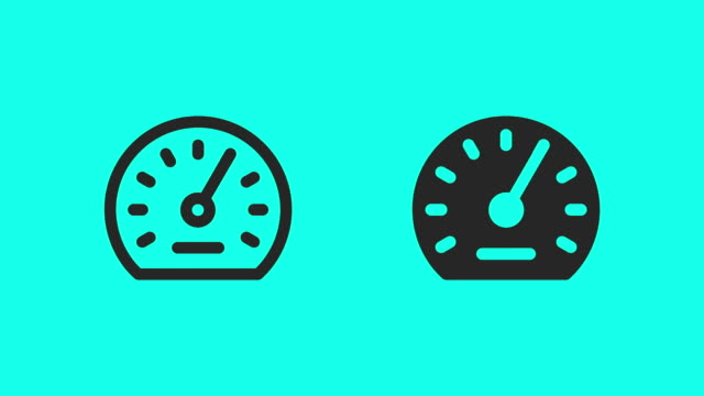 auto meter icons - vector animate - speedometer stock videos & royalty-free footage
