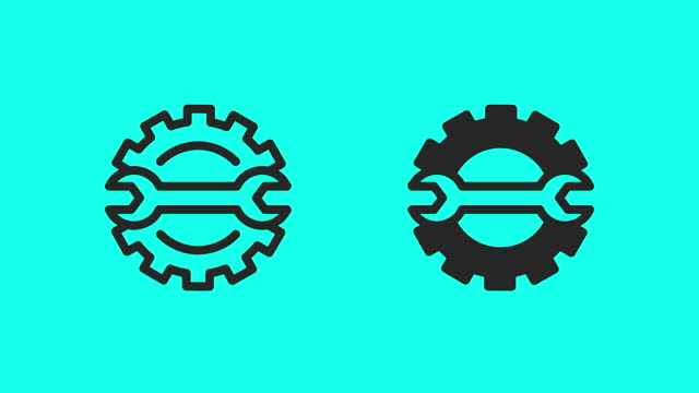 auto repair icons - vector animate - leisure activity stock videos & royalty-free footage