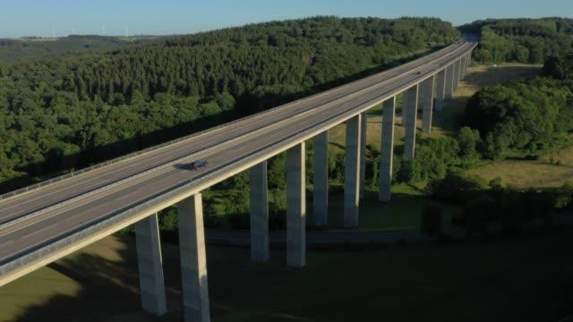autobahn bridge at sunset - germany stock videos & royalty-free footage