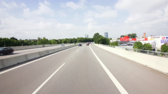 pov autobahn drive in munich - germany stock videos & royalty-free footage
