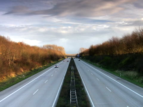 pal: autobahn (normal speed) - direction stock videos & royalty-free footage
