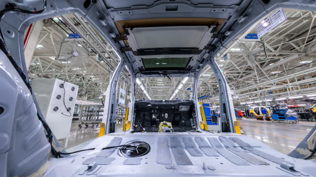 automated car production line - machine part stock videos & royalty-free footage