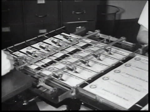 1934 ms automated check signing machine / united states - 1934 stock videos & royalty-free footage