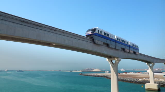 automated monorail metro dubai - automated stock videos & royalty-free footage