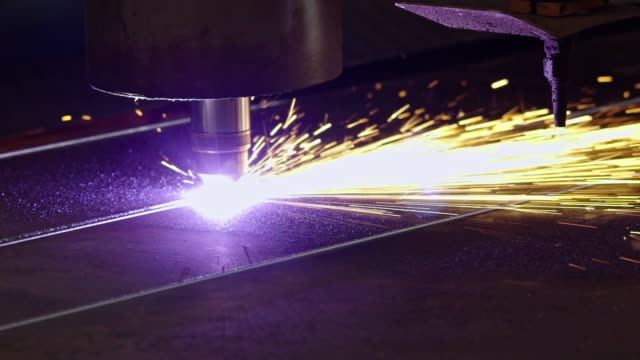 automated plasma cutter - iron metal stock videos & royalty-free footage
