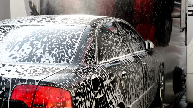 automatic car wash - bar of soap stock videos and b-roll footage