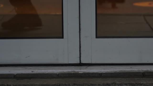 automatic doors sliding shut - sliding stock videos & royalty-free footage