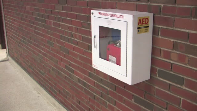 automatic external defibrillator (aed) hd - defibrillator stock videos and b-roll footage