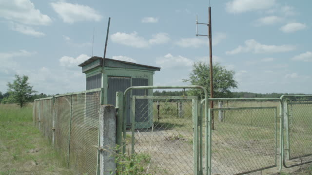 stockvideo's en b-roll-footage met automatic station for controlling radioactive conditions in kryva hora, ukraine near chernobyl, on june 17, 2019. the chernobyl disaster was a... - kernramp van tsjernobyl