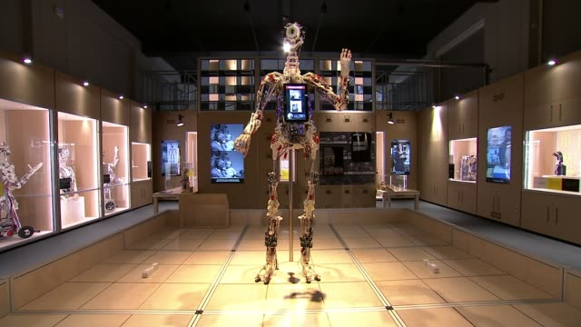 impact on jobs in london r140217002 / 1422017 england london science museum various shots of exoskeleton of robot robot hand operating end lib - automated stock videos & royalty-free footage