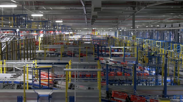 automation in grocery delivery centre - sending stock videos & royalty-free footage