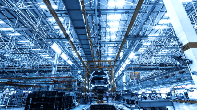 automobile factory production equipment - automobile industry stock videos & royalty-free footage