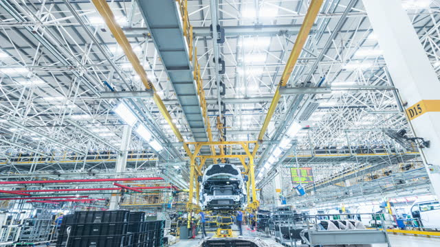 automobile factory production equipment - car plant stock videos & royalty-free footage