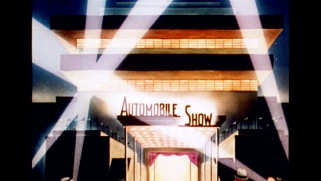 automobile show opens - ausstellung stock-videos und b-roll-filmmaterial