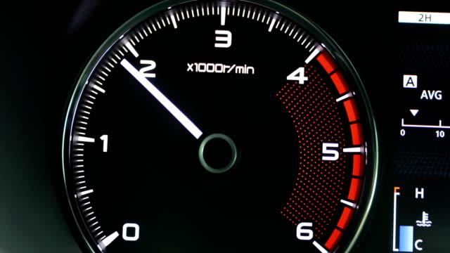 Automotive car engine speed, display, technology