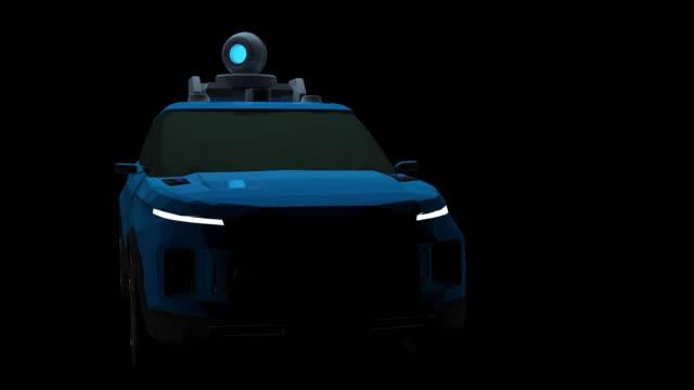 vidéos et rushes de ai autonomous car 3d loopable animation - équipement informatique