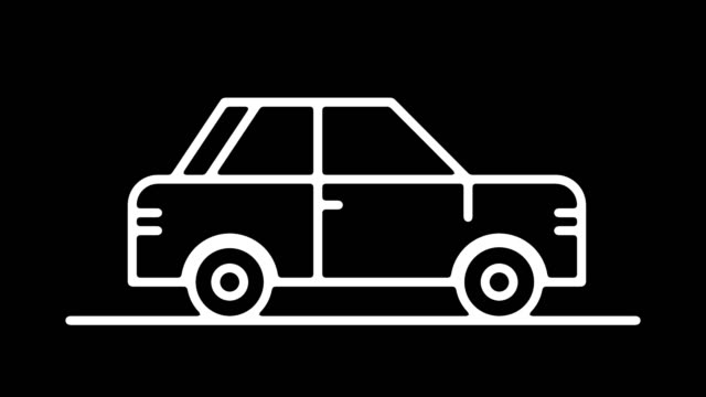 autonomous vehicles line icon animation with alpha - computer icon stock videos & royalty-free footage