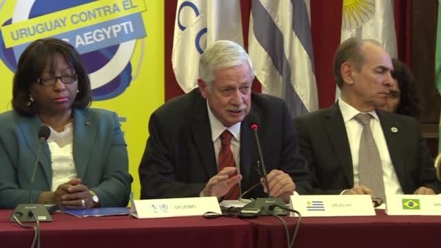 autoridades sanitarias de america latina se reunieron este miercoles en montevideo para coordinar sus respuestas al desafio del zika - desafio stock videos and b-roll footage