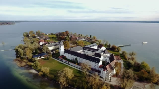 The imperial abbey of Frauenchiemsee situated on an Island