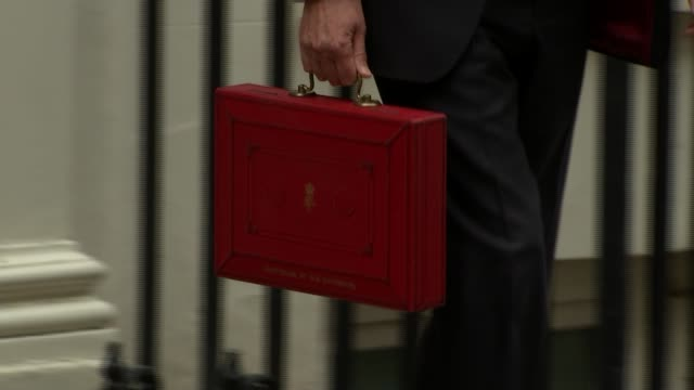 chancellor philip hammond claims austerity is over england london westminster sir vince cable mp interview sot downing street day budget box carried... - cable box stock videos and b-roll footage