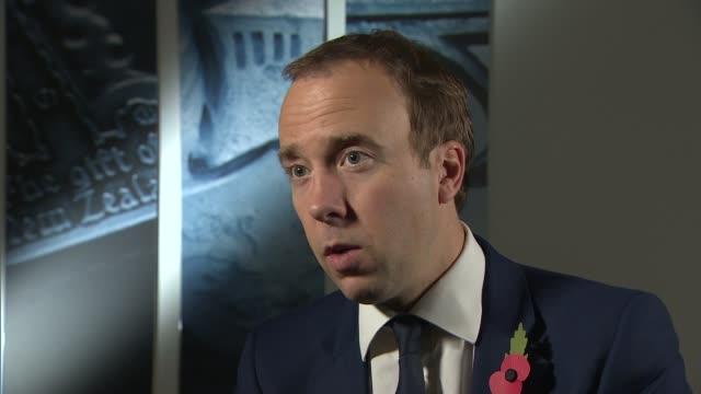 matt hancock interview england london int matt hancock mp interview sot on autumn budget 2018 on nodeal brexit is ending austerity a form of bribery... - bribing stock videos & royalty-free footage