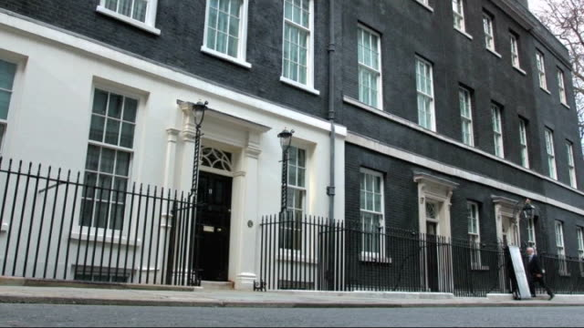 london downing street ext gvs speeded up sequence exterior of number 11 - number 11 stock videos and b-roll footage
