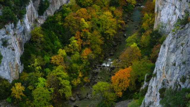 autumn colors, foz de arbayún, salazar river, navarra, spain, europe - comunidad foral de navarra stock videos and b-roll footage