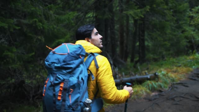 autumn hiking - equipment stock videos & royalty-free footage