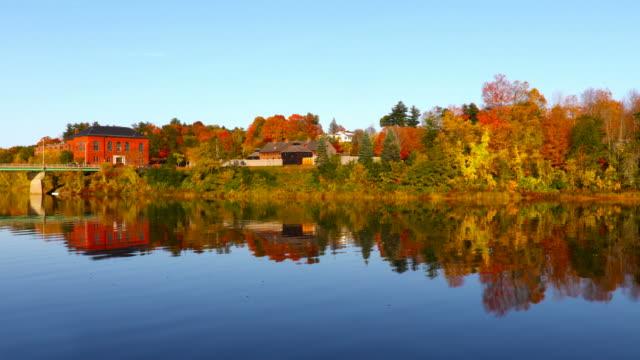 autumn in augusta, maine - augusta maine stock videos & royalty-free footage