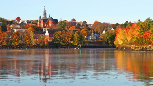 autumn in biddeford, maine - maine stock videos & royalty-free footage