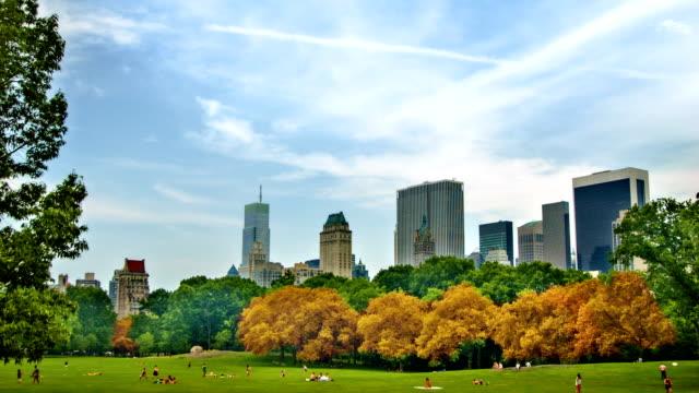 秋のセントラルパーク - マンハッタン セントラルパーク点の映像素材/bロール