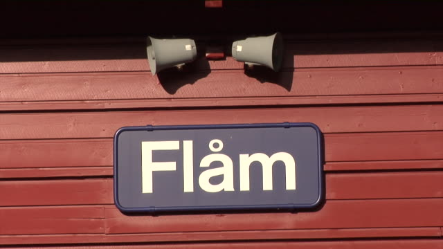 autumn in flåm - western script stock videos & royalty-free footage