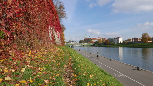 Autumn in Krakow close to the Vistula river
