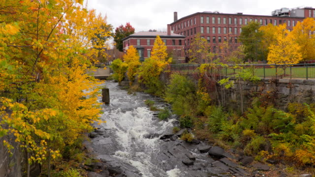 autumn in lowell massachusetts - lowell stock videos & royalty-free footage