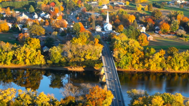 autumn in massachusetts - new england usa stock videos & royalty-free footage